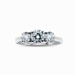 Brilliant Cut 3 Stone Diamond Trilogy Ring 1ct